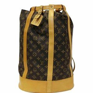 LOUIS VUITTON Randone Monogram Canvas Backpack Bag